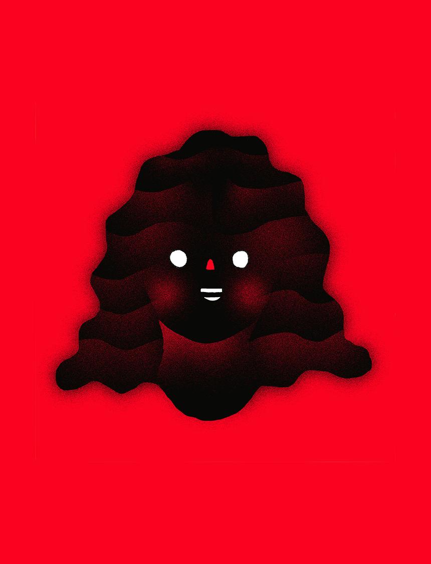 P zender glowinggirl red