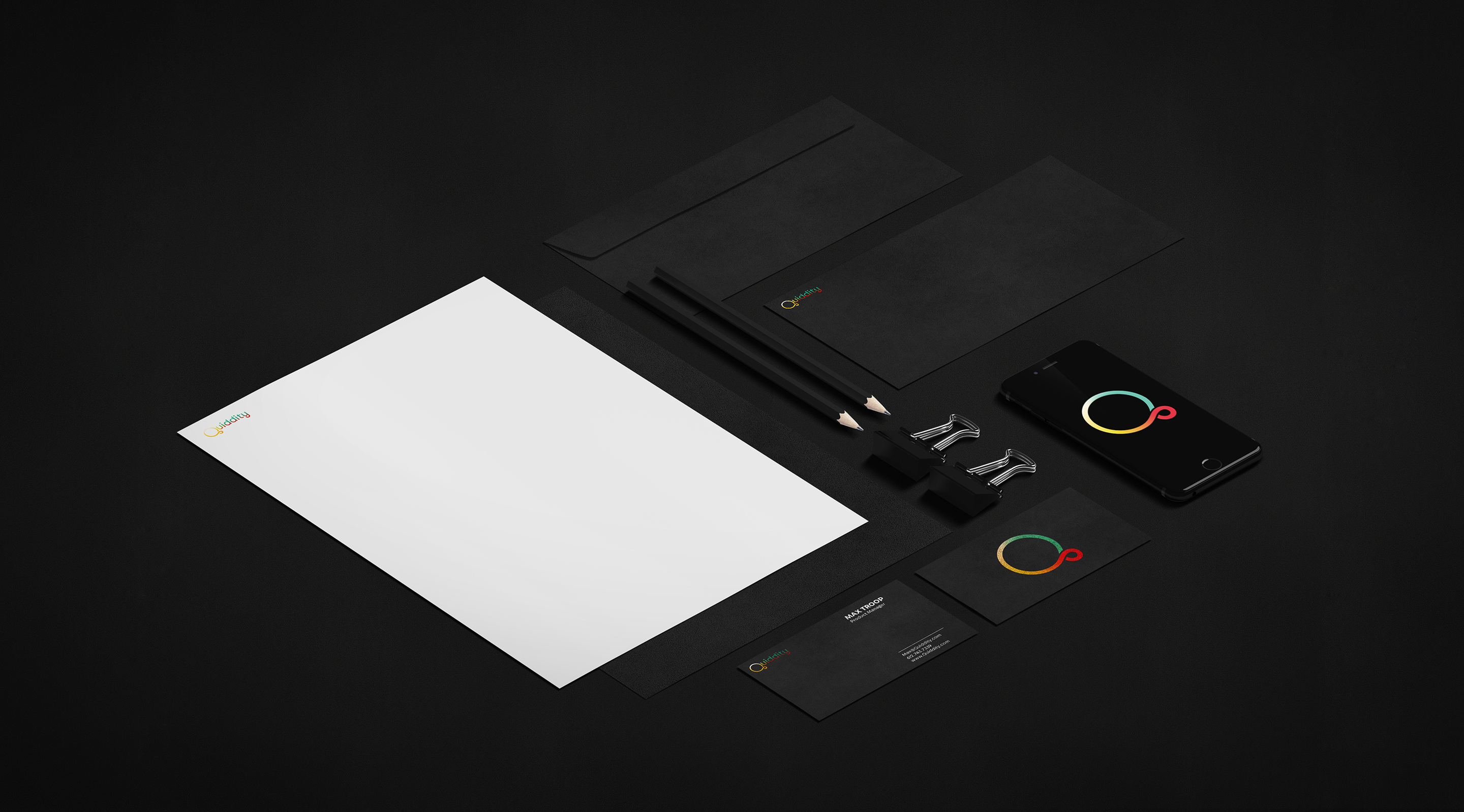 Quiddity stationary mockup 2 copy