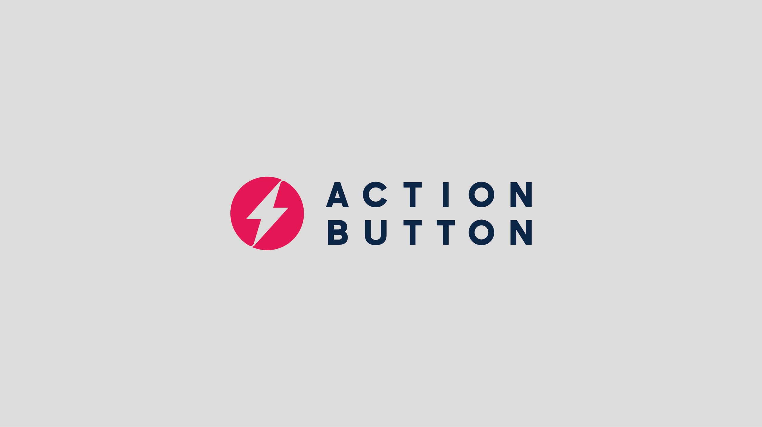 Action button logotype lockup